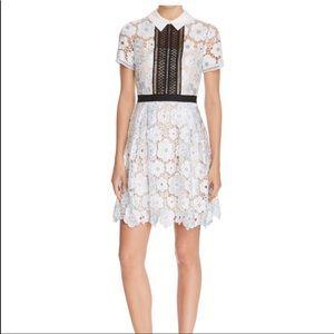 3/$20 Aqua Lace Collar Color Block Blue Mini Dress